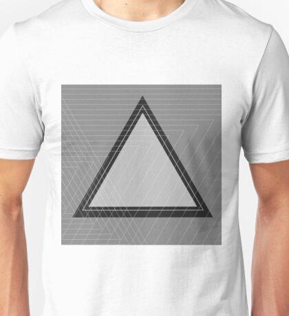 Grey Scale Triangle Unisex T-Shirt
