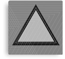 Grey Scale Triangle Canvas Print