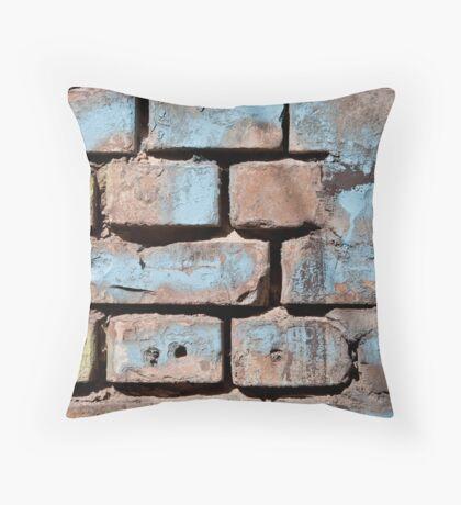 brick wall texture Throw Pillow