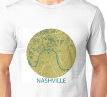 Nashville TN Map Gold Teal Ellipse Unisex T-Shirt