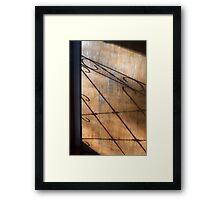 Screen Door Shadow Framed Print