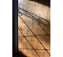Screen Door Shadow Photographic Print