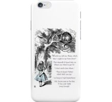Cheshire Direction iPhone Case/Skin