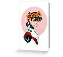 Keith Flower Crown Greeting Card