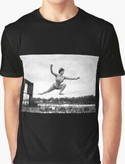 Tightrope walker Gertrude Dewar - Queen of the High Wire Graphic T-Shirt