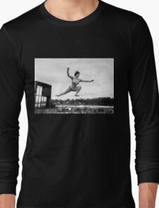 Tightrope walker Gertrude Dewar - Queen of the High Wire Long Sleeve T-Shirt