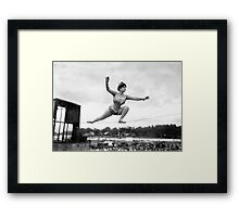 Tightrope walker Gertrude Dewar - Queen of the High Wire Framed Print