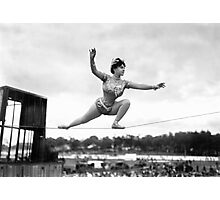 Tightrope walker Gertrude Dewar - Queen of the High Wire Photographic Print