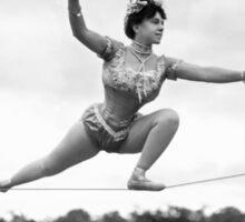 Tightrope walker Gertrude Dewar - Queen of the High Wire Sticker