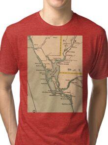 Vintage Map of Port Charlotte Florida (1896) Tri-blend T-Shirt