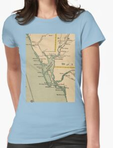 Vintage Map of Port Charlotte Florida (1896) Womens Fitted T-Shirt