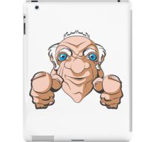 Old Man Pointing at You iPad Case/Skin