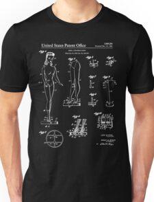 Barbie Doll Patent - Black Unisex T-Shirt
