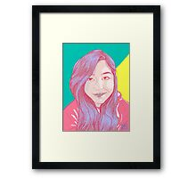 Pretty In Lines Framed Print