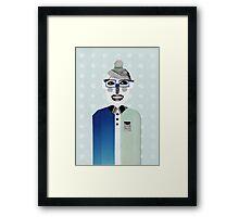 Happy geek girl Framed Print