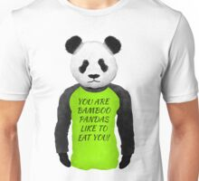 Panda Wearing A Funny T-shirt Unisex T-Shirt