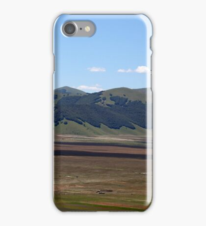 Fields in the Sibellini Mountains in Italy iPhone Case/Skin
