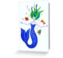 Tranquil Mermaid  Greeting Card
