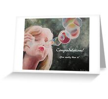 Congradulations, You really blew it! Greeting Card