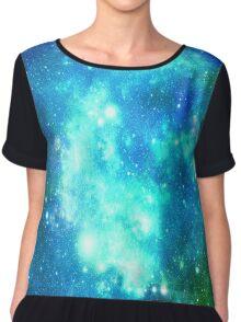 Blue Galaxy  Chiffon Top
