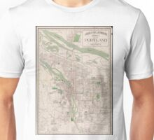 Vintage Map of Portland Oregon (1912) Unisex T-Shirt