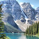 Moraine Lake - Valley of the Ten Peaks by Vickie Emms