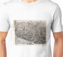Vintage Pictorial Map of Poughkeepsie NY (1871) Unisex T-Shirt