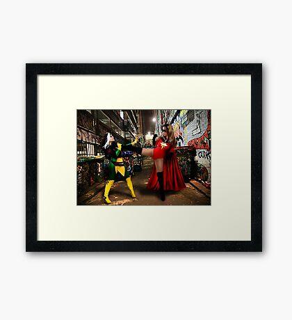 Rogue vs Ms Marvel Framed Print