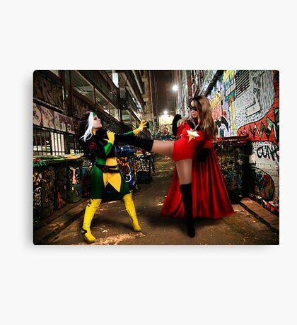 Rogue vs Ms Marvel Canvas Print