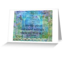 Shakespeare humorous quote Greeting Card