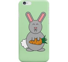 Cute Rabbit With Giant Carrot iPhone Case/Skin