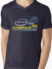 Cool Funny Introvert Party Shirts Mens V-Neck T-Shirt