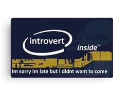 Cool Funny Introverts Unite Party Shirts Canvas Print