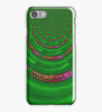 Marijuana Street - Pink iPhone Case/Skin
