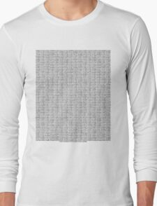 Binary Code Long Sleeve T-Shirt