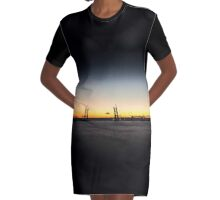 Sunset on the sea Graphic T-Shirt Dress