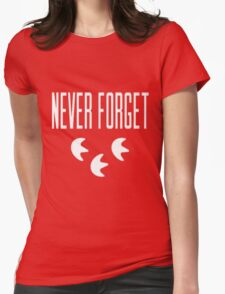 """""""Never Forget"""" Pokemon Go 3-step Merch Womens Fitted T-Shirt"""