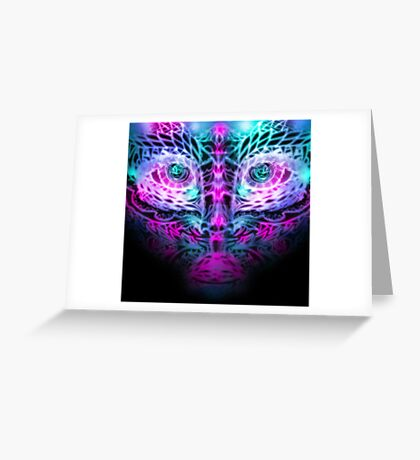 Fractal Face Greeting Card