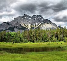 Cascade Mountain, Banff National Park by Vickie Emms