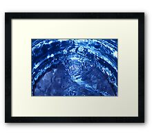 blue water bubbles  Framed Print