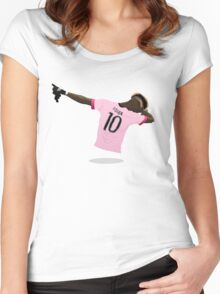 Paul Pogba Dab 2016 Women's Fitted Scoop T-Shirt