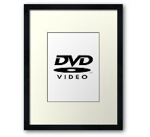 DVD Digital Video Disc Framed Print