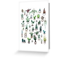 Succulent Plants Watercolor Greeting Card