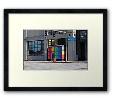 Rubik Shelter Framed Print