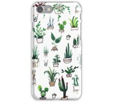 Succulent Plants Watercolor iPhone Case/Skin