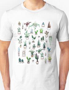 Succulent Plants Watercolor Unisex T-Shirt
