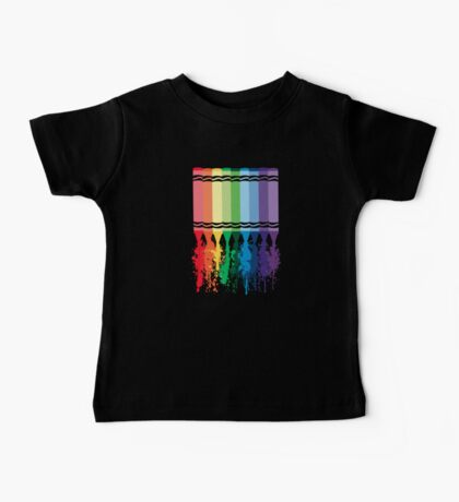 Spattered Crayons  Baby Tee