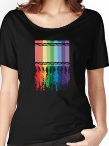 Spattered Crayons  Women's Relaxed Fit T-Shirt