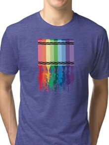 Spattered Crayons  Tri-blend T-Shirt