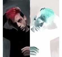 Josh Dun Original/Inverted Drawing Photographic Print